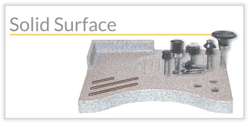 Outils pour le solide surface (Corian, Staron, HiMacs, Rauvisio)